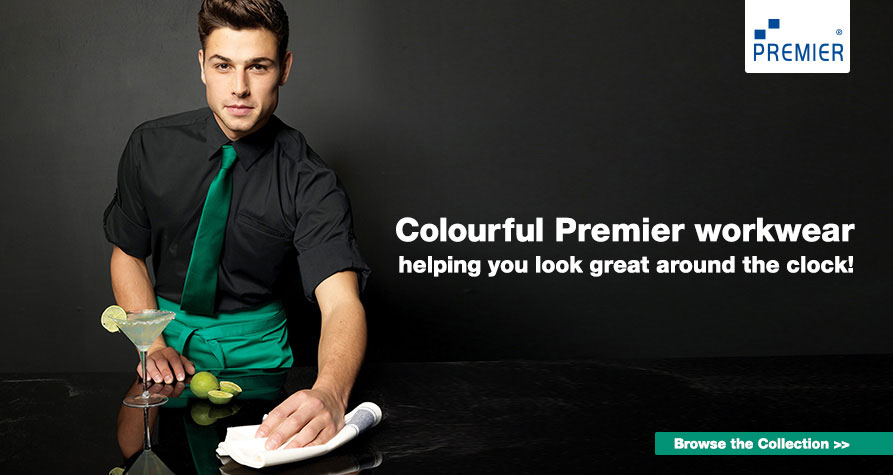 Colourful Premier workwear. Helping you look great around the clock!